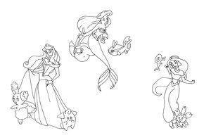 The Disney Princesses by colourme-disney-club