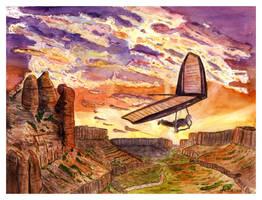 Canyon Gliding.- by themaninthehatart