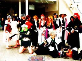Bleach group cosplay by NekoFlameAlchemist