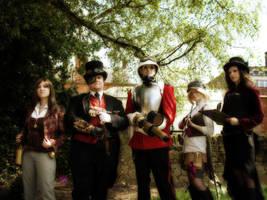 Kitacon: Steampunk Group by NekoFlameAlchemist