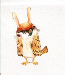 Sparrow bunny by Guindagear