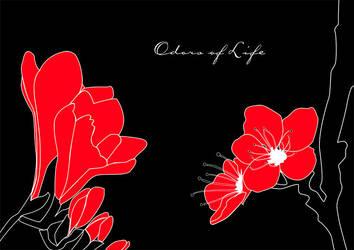 red flowers by ZeBiii