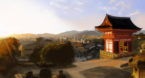 Kyoto Panorama by Rochnan