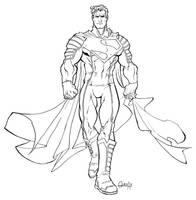ultimate JLA Superman by mistermoster