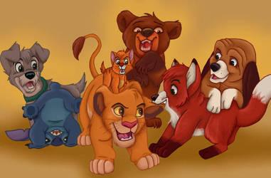 Disney Animals - Boisterous Boys by NostalgicChills