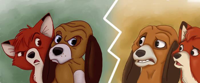 Original vs. Midquel - The Fox And The Hound by NostalgicChills