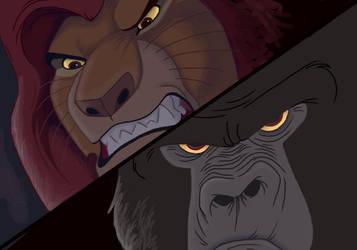 Disney Brawl - Mufasa vs Kerchak -- Mufasa WINS! by NostalgicChills
