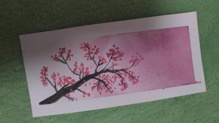 Cherry blossom bookmark by Megu2910