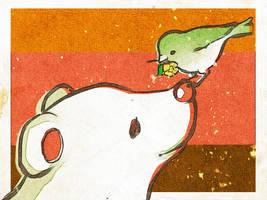 bird+polar bear by gimei