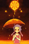 orange moon by gimei