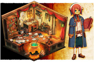 Scholar's room by gimei