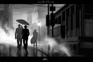Noir Series: City Night by ArtofTu