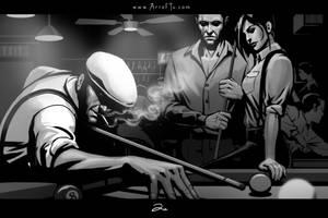 Noir Series: Pool Hall by ArtofTu