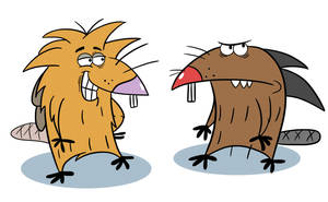 The Angry Beavers by CraftyToons