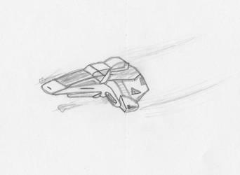 Delta Flyer doodle by WarpFactor5