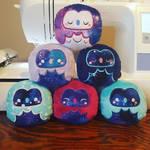 Cosmic Owl Plushies by Slothie-Studios