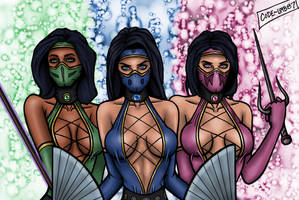 MK Ninja Chicks by CODE-umb87