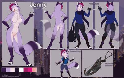 Jennifer Walker Reference Sheet 2.0 by wolfgun0