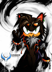 Umber the Black Dog by ZetaZero