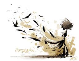 Bird leaves by Zeddyzi
