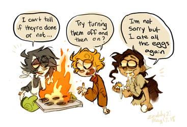 Hobos try to bake by Zeddyzi