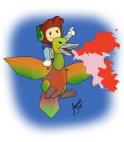 FABULOUS GIANT FIREBREATHING RAINBOW DUCK! :D by Wheeljack-94