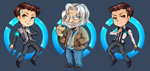 Detroit: Become Human Chibis by ParaParano