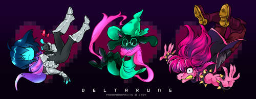 DELTARUNE Charms by ParaParano