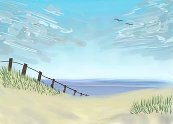 Beach practice thing by Powerpingu19