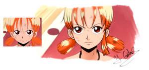 One Piece - Nami - Screencap ReDraw by Gubnub