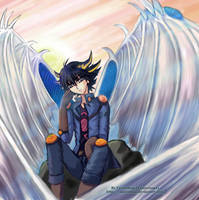 Yusei Fudo: Stardust Angel by venus-eclipse