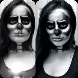 Skull Makeup by missjanellexo