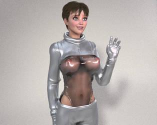 Test scifi spacesuit render :) by SindyAnnaJones