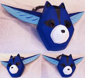 Oki's mask from Okami | COMMISSION by MajorasMasks