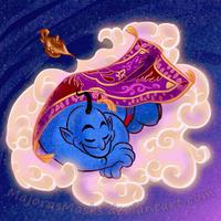 Sweet Dreams, Genie (Robin Williams tribute) by MajorasMasks