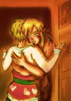 [Legend of Zelda] Bacchus x Cloud (sketch)   COMM. by MajorasMasks