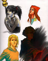 Runaways S1 sketches 01 by bluestraggler
