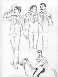 Glee sketches 03 by bluestraggler