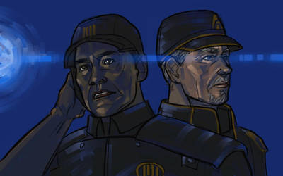 Mass Effect - Admiral Badasses by bluestraggler