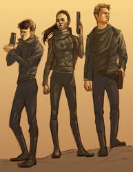 Star Trek: space hipster gangster pirates by bluestraggler