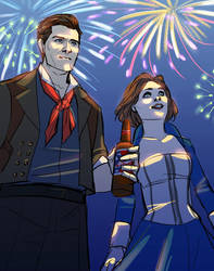 Bioshock Infinite - Fireworks by bluestraggler