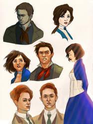 Bioshock Infinite sketches by bluestraggler