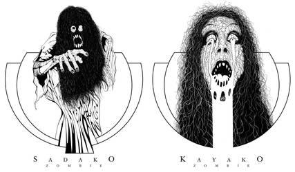 Sadako Kayako by dholms
