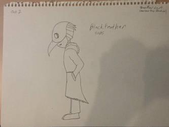 Inktober Day 2- Blackfeather Sans by houndoommegamaster