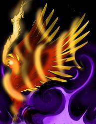 Claim of the Black Flame (Warning- Dark Themes) by houndoommegamaster
