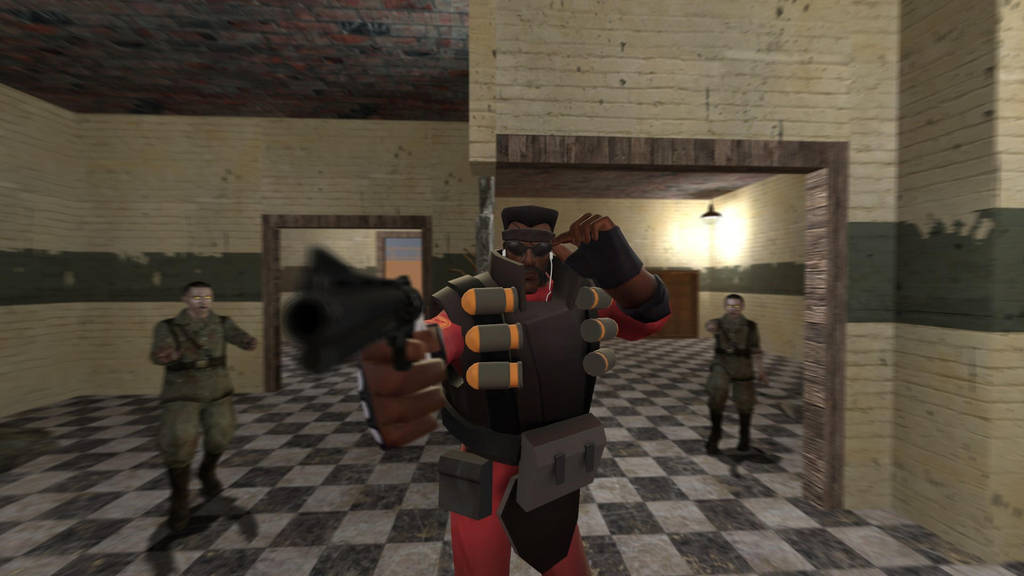 Cod Nazi Zombies Tf2 A Party Is About To Begin By Spatio On