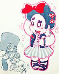 Steven was dressed in girl Sukajan. by hattoushinha