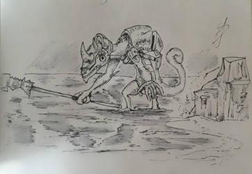 Inktober 2018 day 12 - Lizalfos. by RandomDigiArtist
