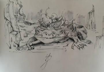 Inktober 2018 day 13 - Salamander by RandomDigiArtist