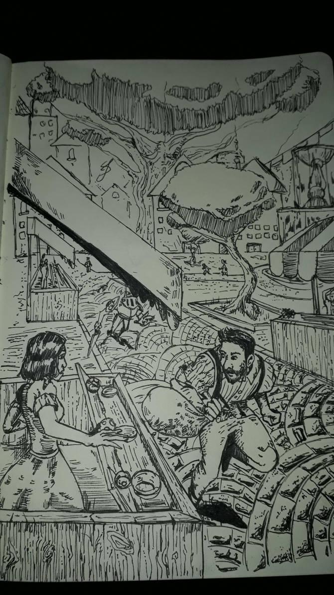Sketchbook page 2. by RandomDigiArtist